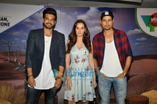 Karan Kundra and Evelyn Sharma for media meet of Stupid Man Smart Phone on Voot