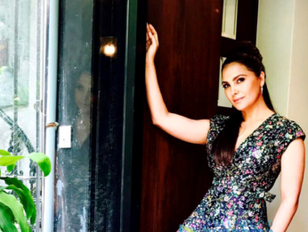 Lara Dutta snapped during a photoshoot for Alexis Mabille