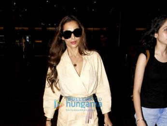 Malaika Arora and Shriya Saran snapped at the Mumbai airport