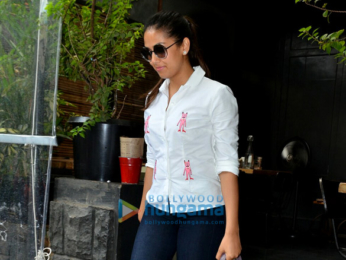 Mira Rajput snapped post lunch with friends in Bandra