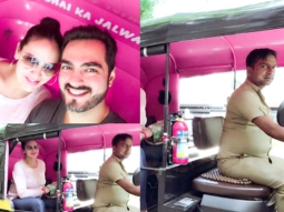 Mother-to-be Esha Deol takes a rickshaw with hubby Bharat Takhtani post lunch date