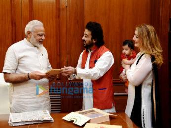 PM Modi warmly welcomes Adnan Sami's daughter Medina PMO Office