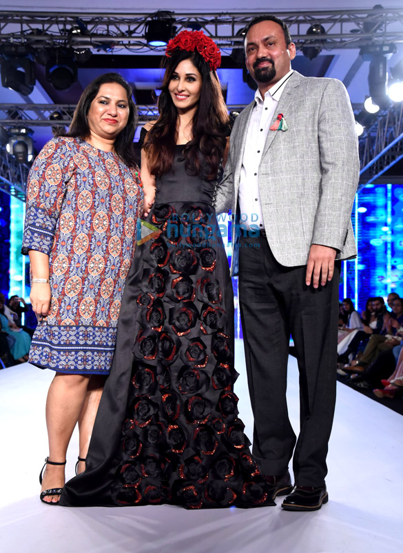 Pooja Chopra walk the ramp at Bombay Times Fashion Week