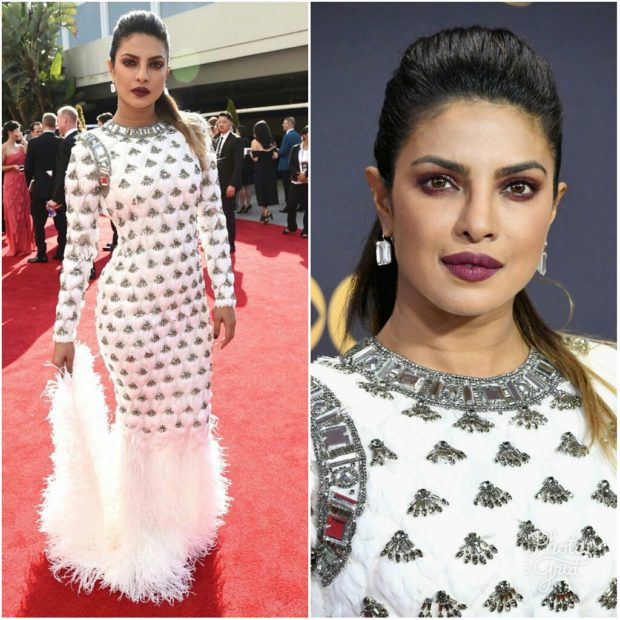 PeeCee dazzles in white at 2017 Emmy Awards