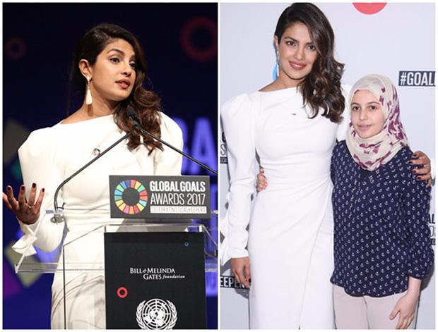 Priyanka Chopra speaks at UN Global Goals Awards; meets UNICEF's youngest goodwill ambassador-1