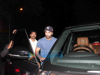 Ranbir Kapoor and Aditya Roy Kapur snapped post dinner at Hakkasan