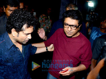 Raj Thackeray and Sachin Tendulkar snapped at Bastian