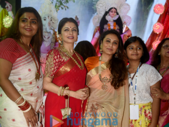 Ranbir Kapoor, Alia Bhatt, Rani Mukherji and others snapped at Durga Pooja in Juhu