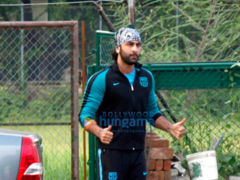 Ranbir Kapoor, Armaan Jain and others at football practice