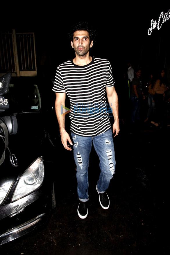 Ranbir Kapoor, Varun Dhawan, Arjun Kapoor, Aditya Roy Kapur and Ileana D'Cruz snapped post party at Sucasa Bandra