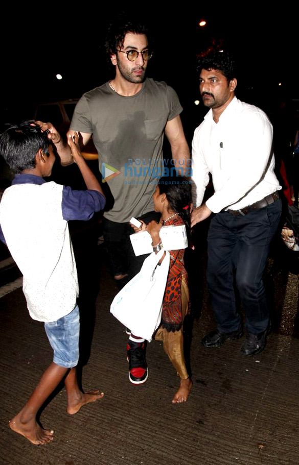 Ranbir Kapoor, Varun Dhawan, Arjun Kapoor, Aditya Roy Kapur and Ileana D'Cruz snapped post party at Sucasa Bandra