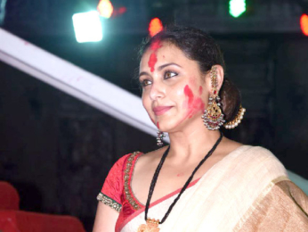 Rani Mukherji snapped at Durga Puja in Juhu