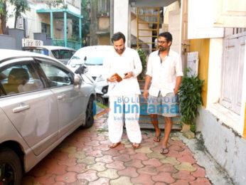 Saif Ali Khan snapped post meeting in Bandra