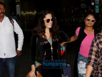 Saiyami Kher and Elli Avram snapped at the airport
