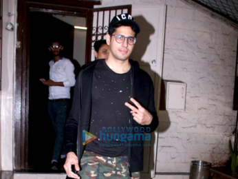 Sidharth Malhotra spotted at Purple Haze studio for dubbing for his ad shoot