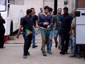 Sidharth Malhotra and Sonakshi Sinha snapped after a photoshoot for 'Ittefaq' in Mehboob Studio