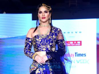 Sunny Leone and John Abraham walk the ramp at Bombay Times Fashion Week