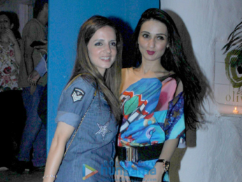 Sussanne Roshan and Anu Dewan snapped post dinner at Olive
