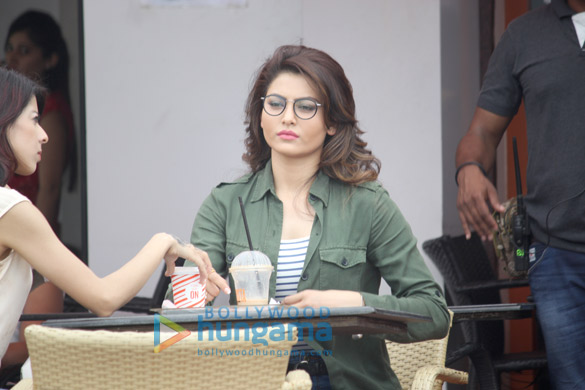 Urvashi Rautela snapped at a shoot in Bandra