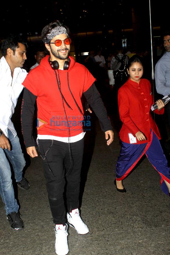 Varun Dhawan and Richa Chadda snapped at the airport