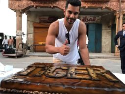 WOW! Angad Bedi cuts a gigantic cake, featuring Salman Khan, after wrapping up shoot for Tiger Zinda Hai1