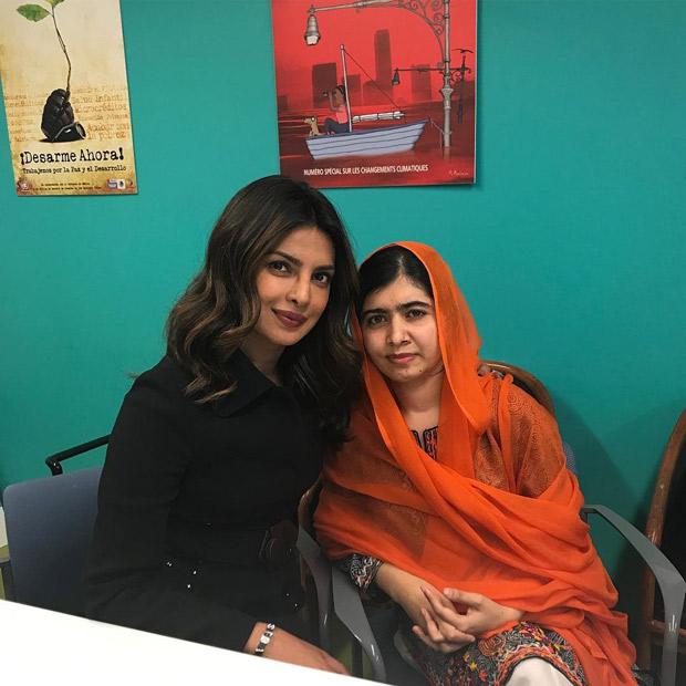 WOW! Priyanka Chopra meets Nobel Peace Laureate Malala Yousafzai at UNGA 2017