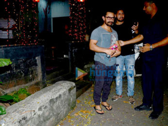 Aamir Khan spotted after a spa session