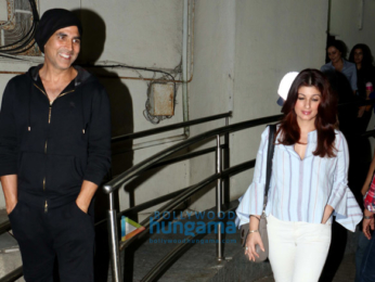 Akshay Kumar with family and Arjun Kapoor spotted at PVR Juhu