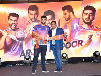 Arjun Kapoor graces the press meet of FC Pune City at J W Marriott