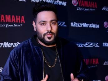 Badshah and Miss Diva contestants at Yamaha music video launch