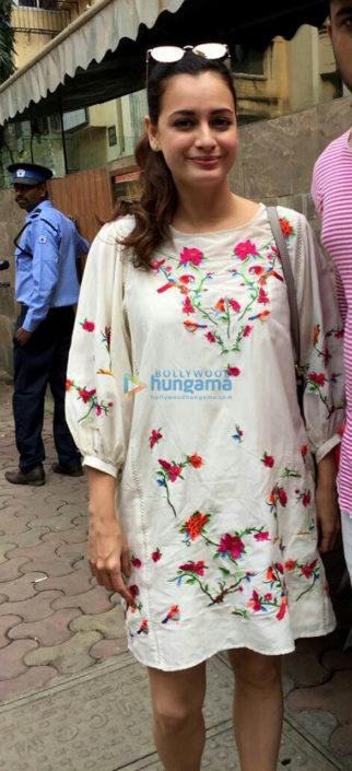 Dia Mirza spotted at Indigo restaurant Bandra