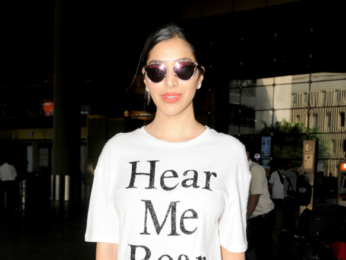 Esha Gupta and Sophie Choudry snapped at the airport
