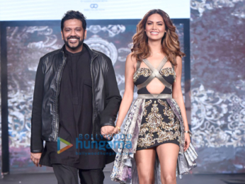 Esha Gupta walks the ramp for Rocky S at the IBFW on day 2 in Goa