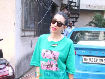 Karishma Kapoor snapped at her office in Bandra