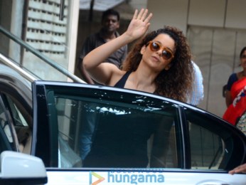 Kangana Ranaut snapped at dance rehearsals