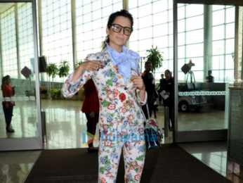 Kangana Ranaut spotted while on her way to Jaipur