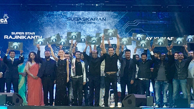 MEGA EVENT – Rajinikanth, Akshay Kumar aothers launch the audio of 2.0 with much fanfare