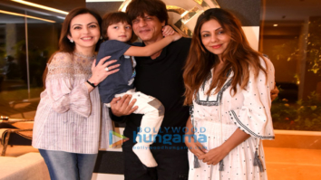 Nita Ambani at Gauri Khan's store with Shah Rukh Khan and AbRam Khan