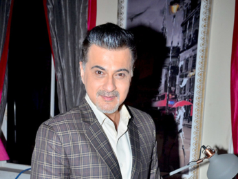 Sanjay Kapoor and Smriti Kalra snapped during a photo shoot for a new TV show
