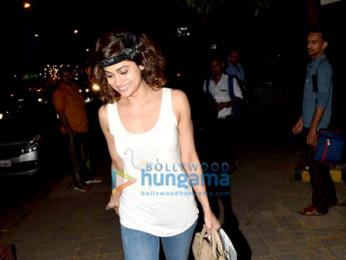 Shamita Shetty spotted outside Kromakay salon