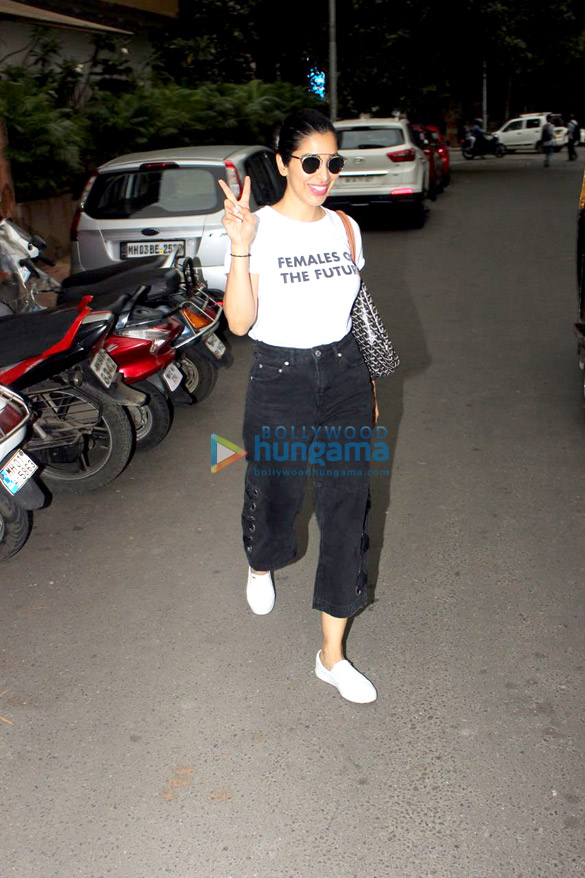 Sophie Choudry snapped at Manish Malhotra's store