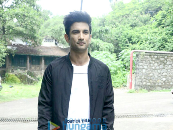 Sushant Singh Rajput snapped shooting for Flying Machine's new TVC