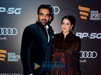 Aamir Khan, Virat Kohli and Anushka Sharma at Indian Sports Honours 2017 Awards