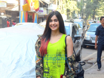 Adah Sharma spotted walking on the streets of Mumbai