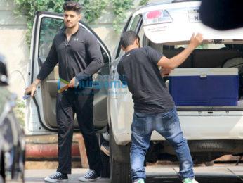 Aditya Roy Kapur and Sooraj Pancholi spotted outside their gym