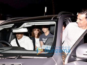 Akshay Kumar snapped with family at PVR Juhu