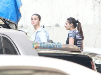 Alia Bhatt snapped outside her gym