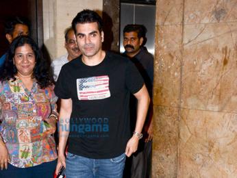 Arbaaz Khan and Salim Khan grace a special screening of 'Tera Intezaar'
