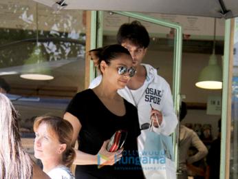 Bipasha Basu and Karan Singh Grover spotted at The Kitchen Garden