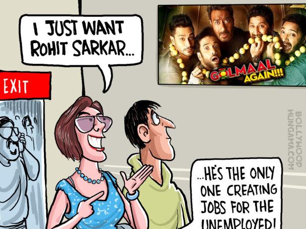 Bollywood Toons Rohit Shetty Sarkar!
